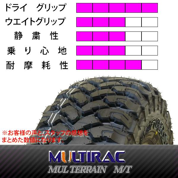新品マッドタイヤ MULTIRAC MUL TERRAIN M/T 夏4本 305/70R16 8PR LT ホワイトレター