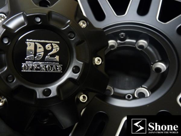新品4×4アルミホイール SHONE OFF-ROAD D2W 20×9J  PCD:139.7㎜ オフ:+12 M14㎜対応 マッドブラック ランクル JWL-T