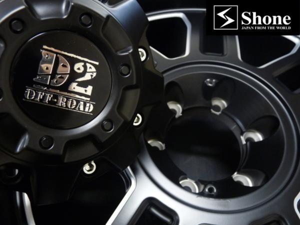 マッドブラック アルミホイール 20×9J SHONE OFF-ROAD 139.7mm 6穴 オフセット±0 4本価格 山形発
