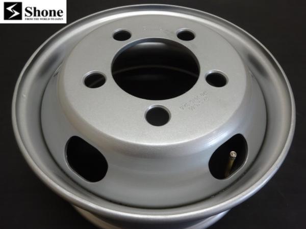 コースターリア用 Shone製スチールホイール 17.5×6.00 オフセット+120 5穴 2本価格 山形発