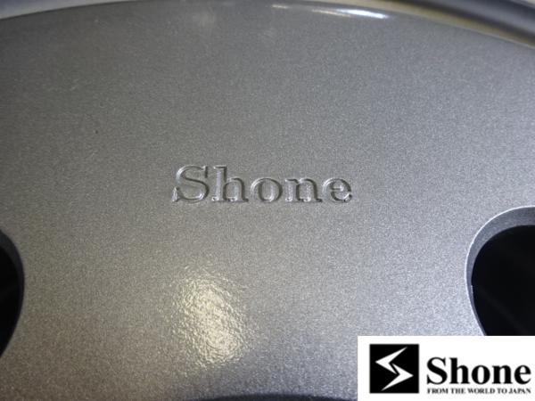 増トン車用 Shone製スチールホイール 19.5×6.75 オフセット+136 6穴 4本価格 山形発