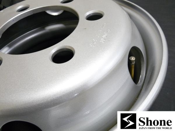 新品SHONEトラック鉄ホイール 4本 17.5×6.00 6H PCD 222.25㎜ +127 ハブ径 164㎜ 穴径32.5㎜ キャンター車 JIS