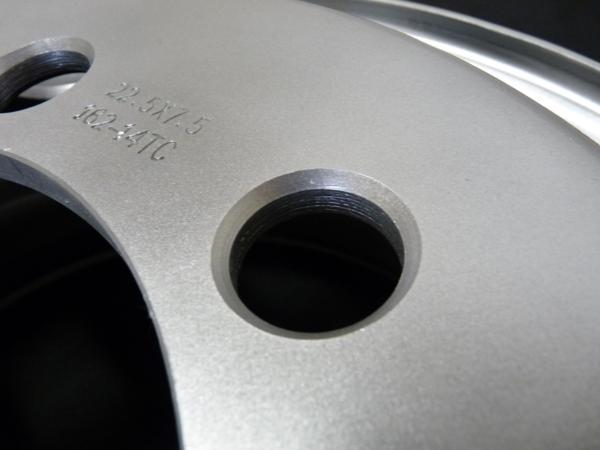 新品SHONEトラック鉄ホイール 1本  22.5×7.50 8H PCD 285㎜ +162 ハブ径 221㎜ 穴径 32.5㎜ 大型10t JIS