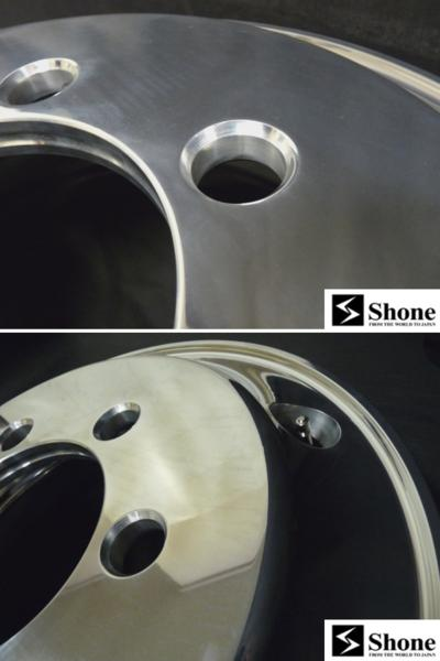 増トン 5t車 Shone製 FORGED トラックアルミホイール 19.5×6.75 JIS規格 オフセット+135mm 6穴 6本価格 山形発