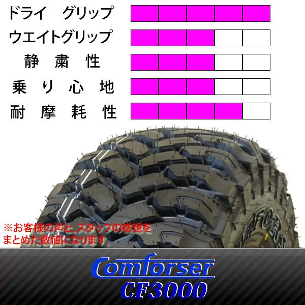 新品マッドタイヤ Comforser CF3000 M/T 4本 235/75R15