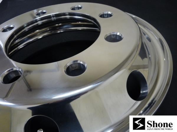 大型用 Shone製トラックアルミホイール 19.5×6.75 オフセット+147 8穴 1本価格 ISO規格 山形発