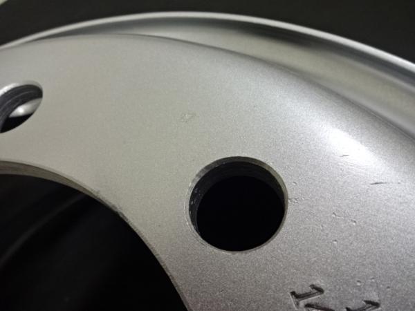 大型低床車用 Shone製スチールホイール 19.5×6.75 オフセット+147 8穴 4本価格 新ISO規格 山形発