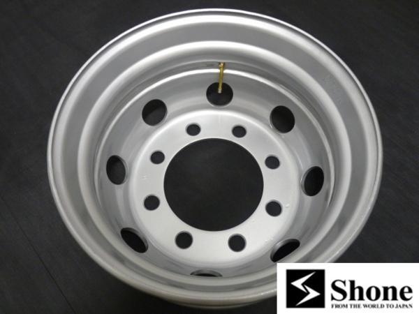 大型低床車用 SHON製スチールホイール 19.5×6.75 オフセット+147 8穴 1本価格 JIS規格 山形発