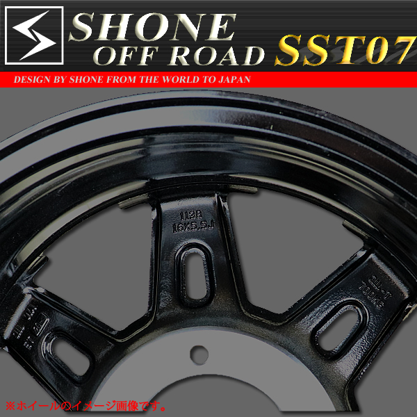 ◆SH227◆新品4本◆SHONE OFF-ROAD SST07 CLEAR BLACK◆16×5.5J◆139.7mm 5穴 ET+20 ジムニー
