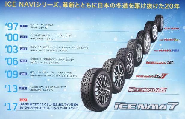 グッドイヤー アイスナビ7 155/65R13 73Q 2017年製 新品スタッドレスタイヤ&新品ホイールセット ブラック ハブ径54mm