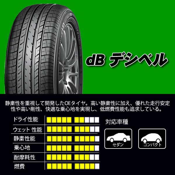 ヨコハマタイヤ dB デシベル 215/60R16 95H SUMMER 4本価格 山形発