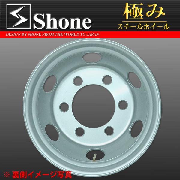 キャンター用スチールホイール 17.5×6.00 オフセット+127 6穴 1本価格 JIS規格 SHONE製 NEWモデル