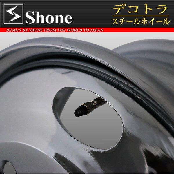コースター用 17.5×6.00 スチールホイール クロームメッキ フロント用 5穴 オフセット+120 1本価格 JIS規格 SHONE製 NEWモデル