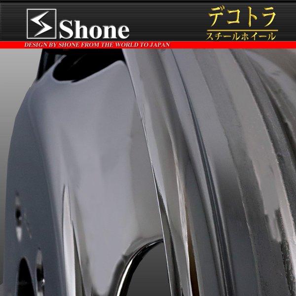 キャンター用 16×5.5 スチールホイール クロームメッキ フロント用 5穴 オフセット+115 1本価格 JIS規格 SHONE製 NEWモデル