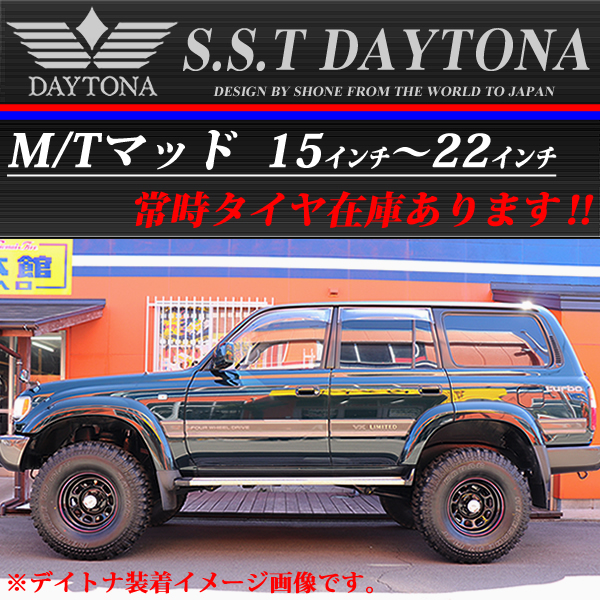 ◆SH180◆新品4本◆SHONE SST DAYTONA◆デイトナブラック 赤青◆15×8J◆5穴 139.7mm ET-20 ジムニー