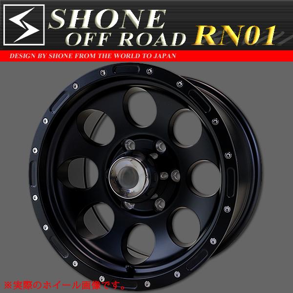 ◆SH87◆新品4本◆SHONE OFF-ROADマッドブラック アルミホイール◆16×8J◆139.7mm 6穴 オフセット±0